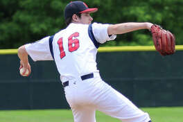 Michael Reeder of Alton pitched against Washington, Missouri during Saturday's season-opening doubleheader of the Missouri-Illinois summer league which was organized to fill the void left by the cancellation of the American Legion baseball season.