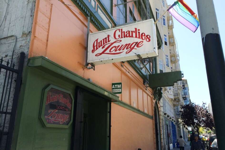 Aunt Charlie's Lounge, located at 133 Turk St. in San Francisco, is fighting to remain open. It's the Tenderloin's only gay bar.