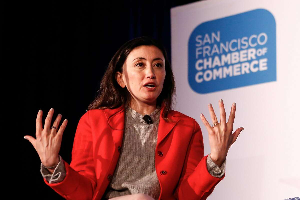 Katrina Lake, founder and CEO of Stitch Fix, speaks at the Chamber of Commerce's annual CityBeat Breakfast on Tuesday on Tuesday, February 12, 2019 in San Francisco, Calif.
