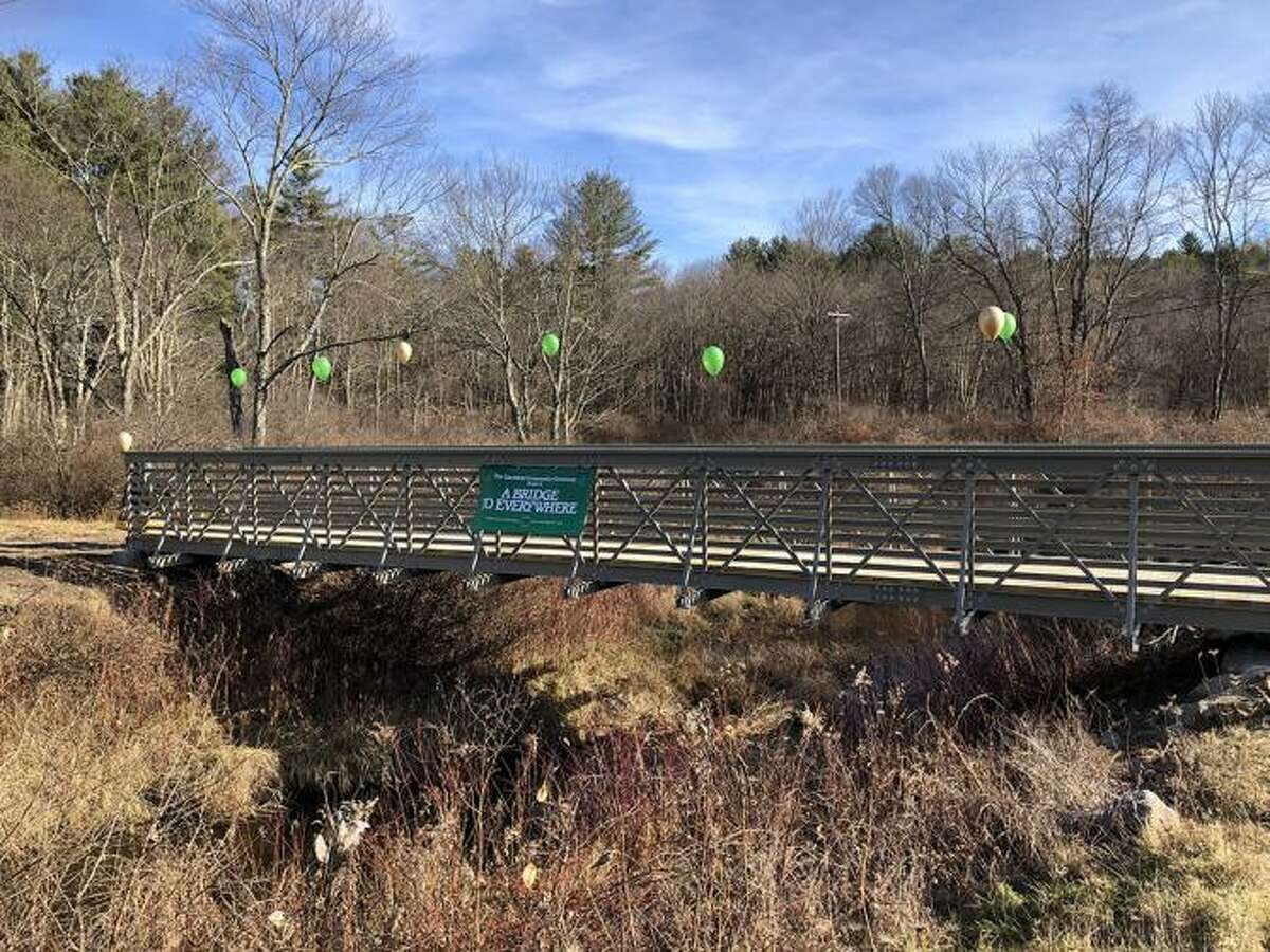 The Litchfield Community Greenway is making great progress with its trail, signage and accessibility for residents while keeping them off main roadways. The greenway's latest addition is a footbridge, visible from Route 202 near White Memorial.