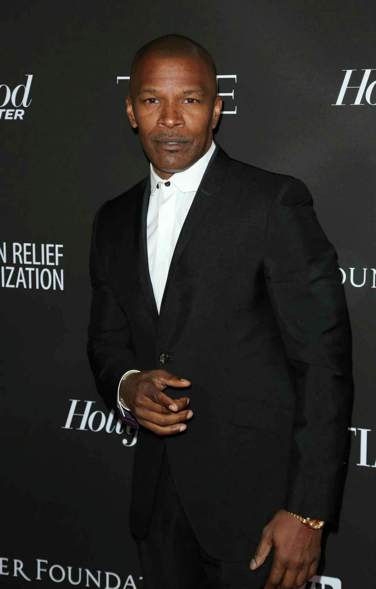 Jamie Foxx arrives at the 2019 Sean Penn J/P HRO & Disaster Relief Organizations Gala at The Wiltern Theatre on Saturday, Jan. 5, 2019, in Los Angeles. (Photo by Willy Sanjuan/Invision/AP)