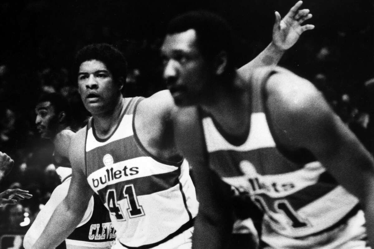 As teammates, the late Wes Unseld (left) and Elvin Hayes made three NBA Finals appearances and led the Bullets (now Wizards) to their only championship in 1978.