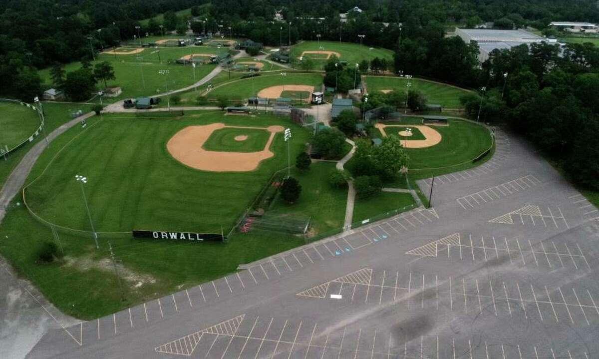 The Oak Ridge Woodlands Area Little League sports fields are seen, Saturday, April 11, 2020, in Spring.