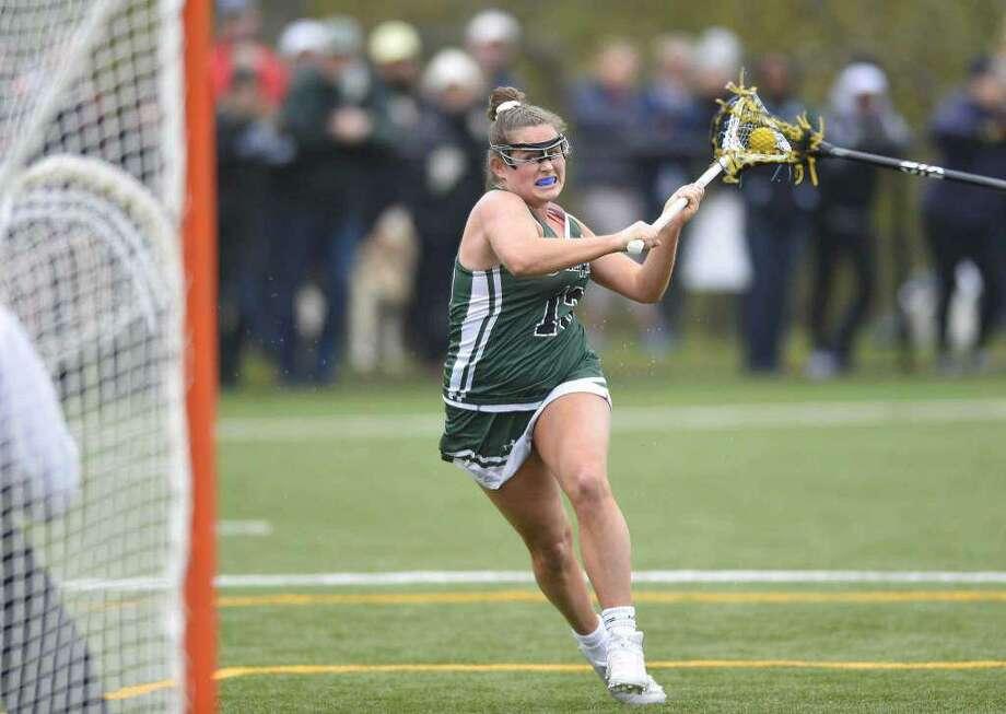 Amelia Sheehan, a Sacred Heart senior, will play lacrosse at the University of North Carolina next season. Photo: Matthew Brown /Hearst Connecticut Media