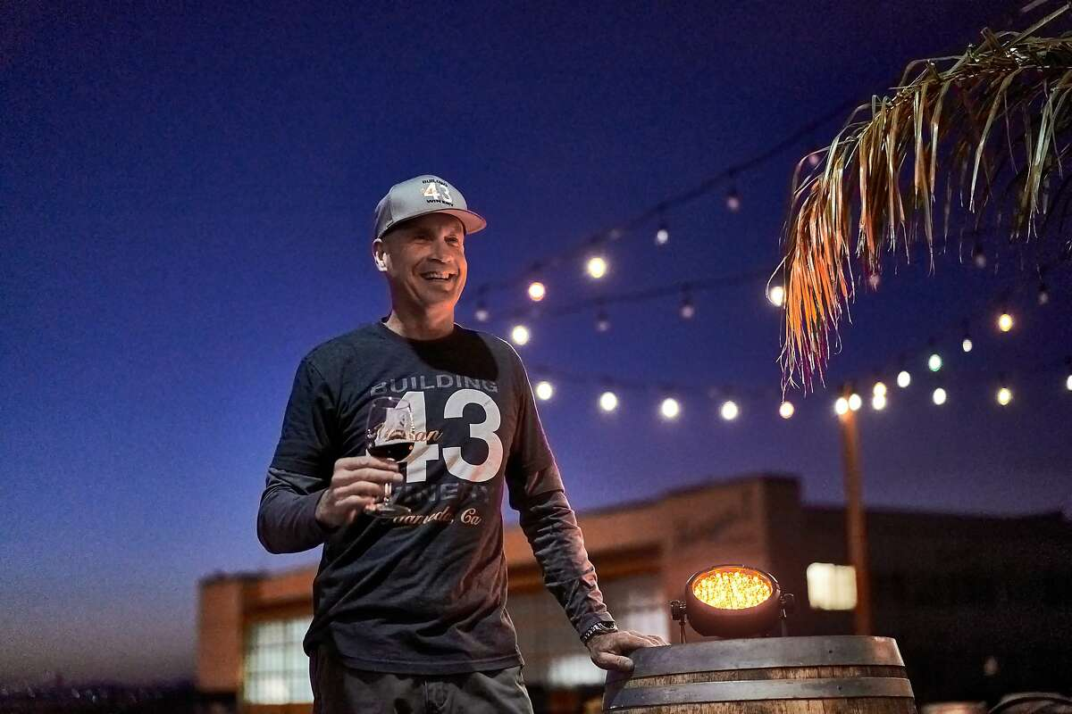 Winemaker Tod Hickman at the Building 43 Winery on Saturday, Feb. 15, 2020, in Alameda, Calif.
