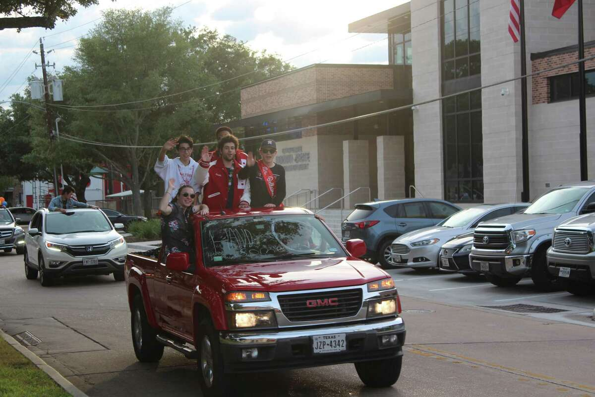 The graduating class of 2020 celebrated their achievements on Friday with a city-sponsored Celebration Drive, featuring student-decorated vehicles depicting the colleges they will be attending next semester while they drive around the Bellaire community.