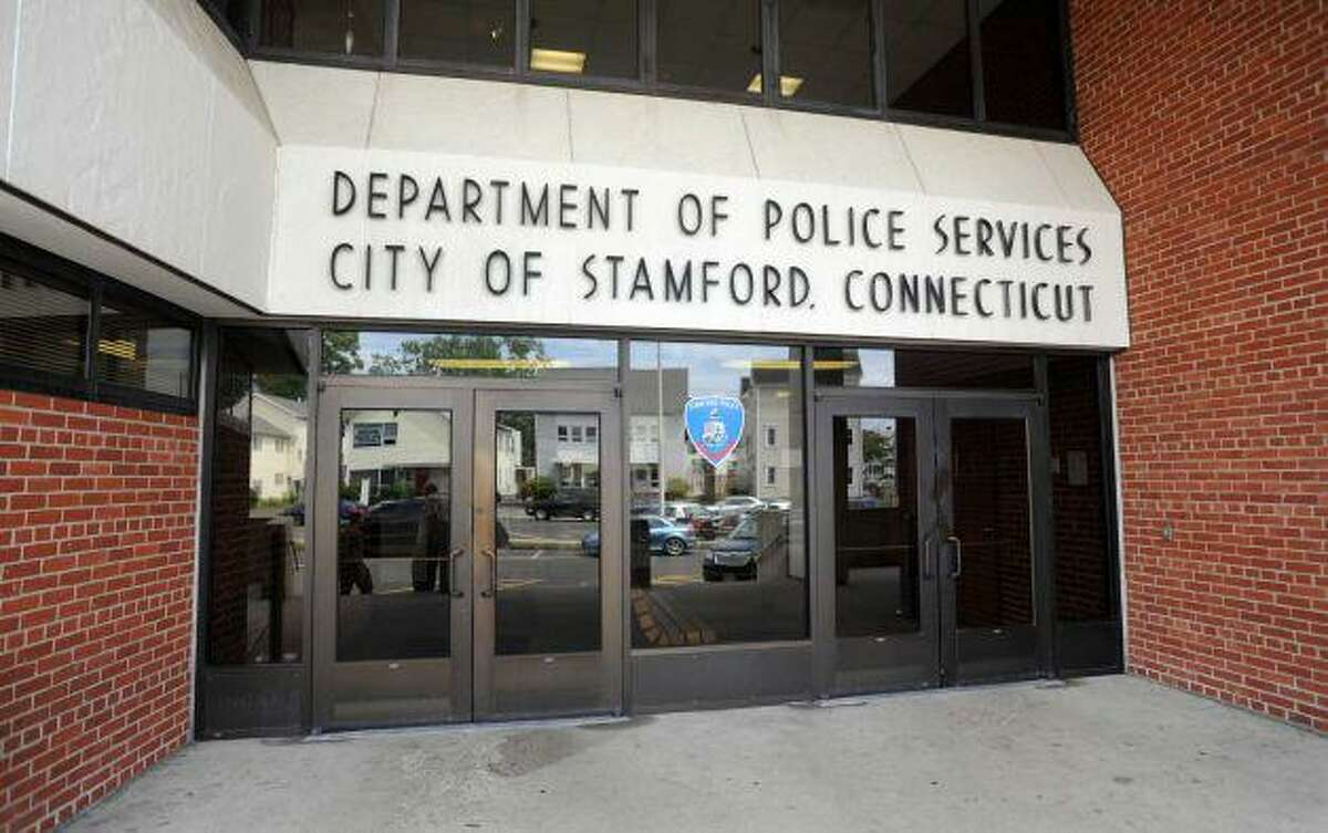 Entrance to the old Stamford police headquarters.