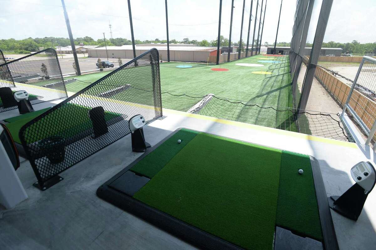The two-story outdoor driving range opened a few weeks ago at 5 Under Golf Center in Beaumont Friday, May 22. Photo taken Friday, May 22, 2020 Kim Brent/The Enterprise