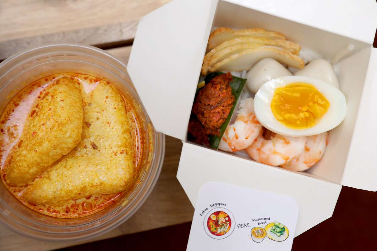 Laksa broth and toppings are packaged up for delivery from pop-up Dabao Singapore, which offers subscription services through the Third Place.