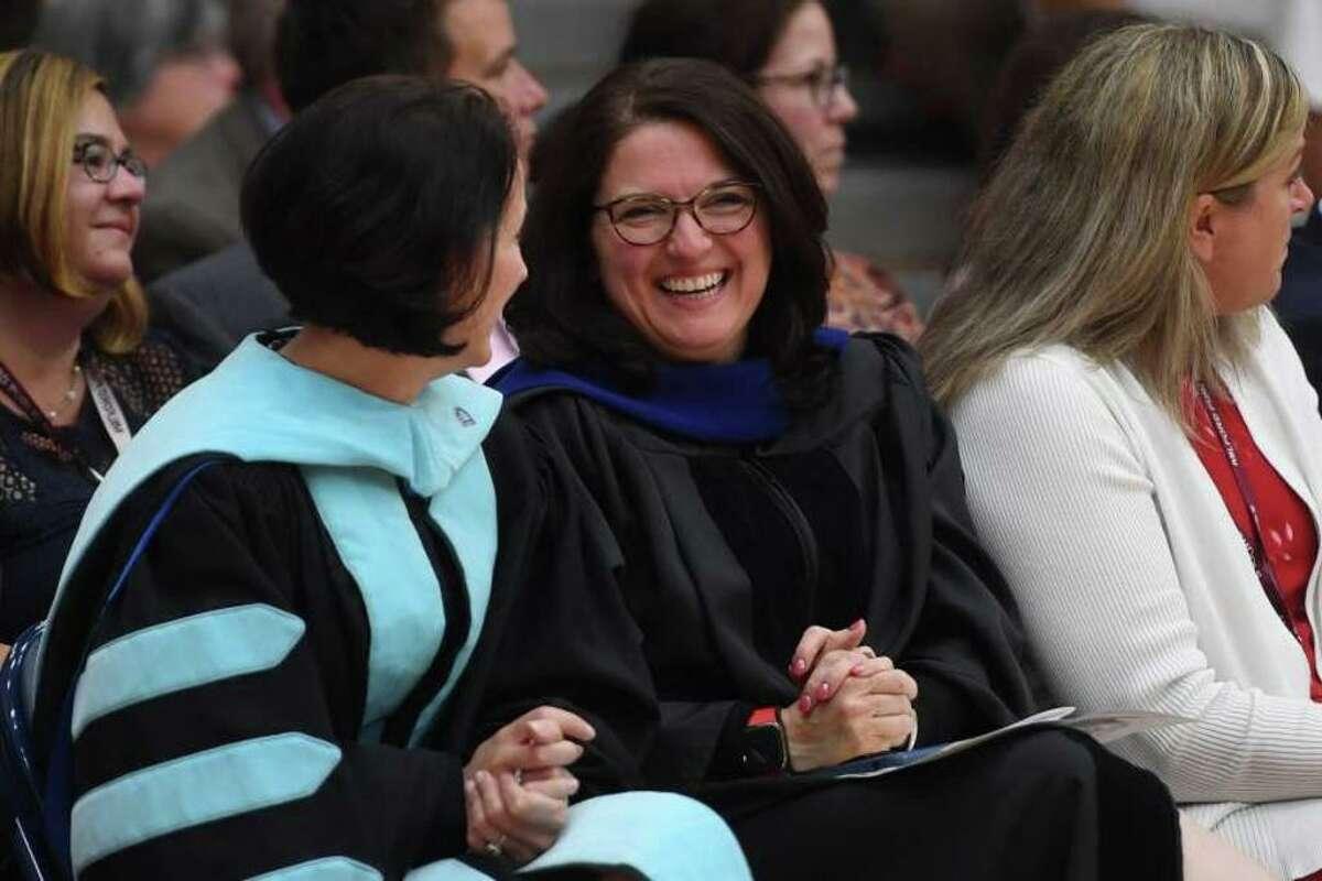 Superintendent of Schools Anna Cutaia attends the Foran High School graduation on June 10, 2019.