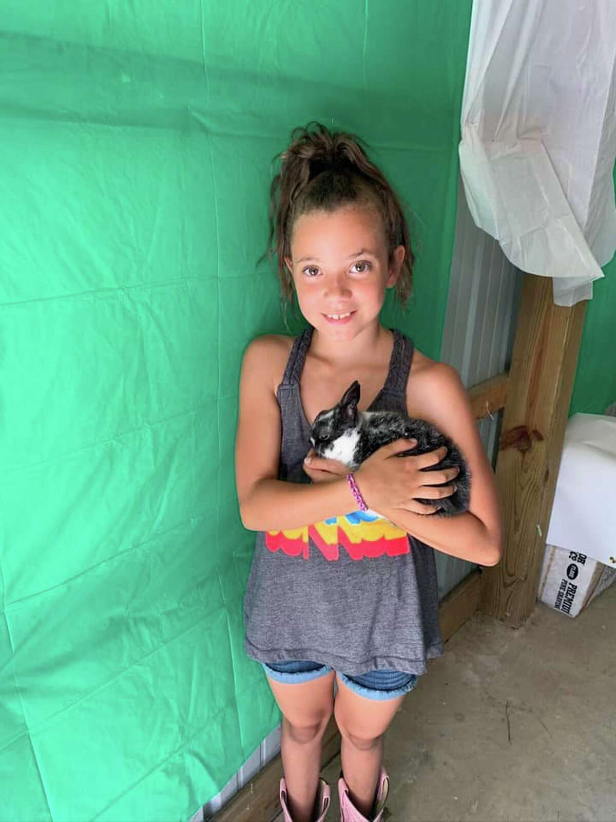 Isabella Pontz, 10, with her Rabbit Double Stuffed Oreo. 2nd year with Grant Center Pioneers.