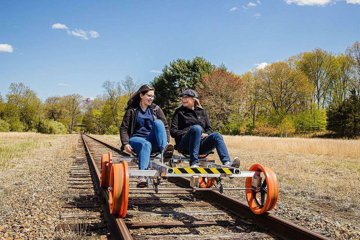 The Rail-Bike Adventure by the Essex Steam Train & Riverboat.