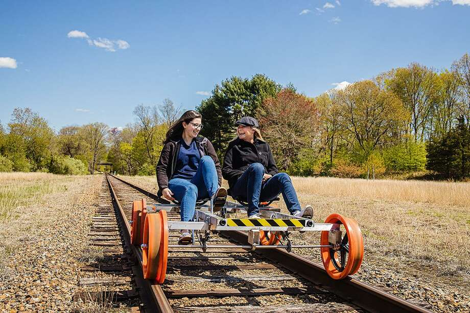 The Rail-Bike Adventure by the Essex Steam Train & Riverboat. Photo: Kim Tyler Photography / Contributed Photo