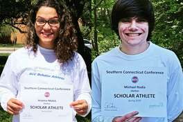 Arianna Malick and Michael Rodia have been named Shelton High's 2020 spring SCC scholar athletes.