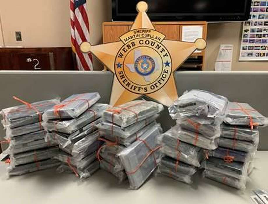 A total of 74 pounds of cocaine was found inside a vehicle recently after it was sold at auction. Photo: Courtesy Of The Webb County Sheriff's Office
