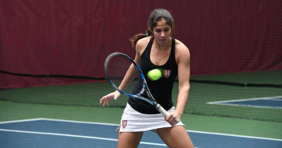 St. John's graduate Natasha Gonzalez went undefeated in six matches at the Harvard Fall Classic to open her sophomore year with the Crimson. Gonzalez led the Mavericks to the SPC final as a senior. Photo: Harvard Athletics Media Relations