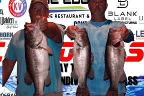 David Bozarth and Russell Cecil won the CONROEBASS Tuesday night tournament with a stringer weight of 17.30 pounds.