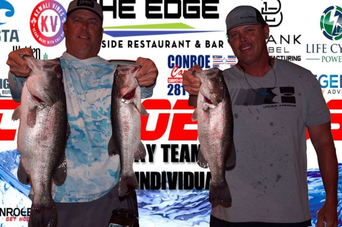 Trea Luedke and Ronnie Wagner came in third place in the CONROEBASS Tuesday tournament with a stringer weight of 14.49 pounds.
