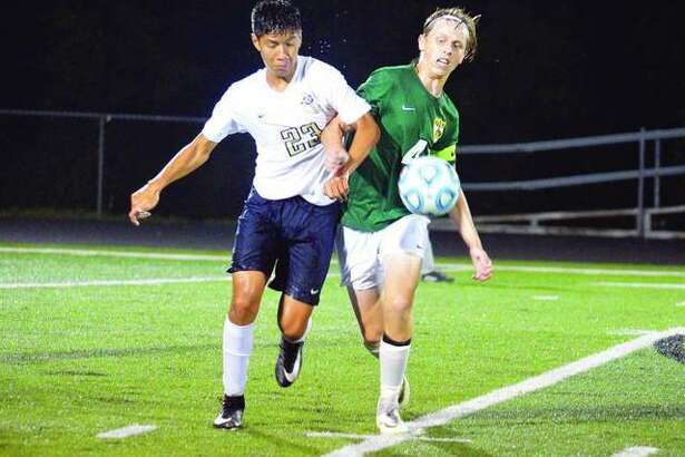 A two-year starter, Diego Pacheco has provided Father McGivney with stout defense and a scoring punch.