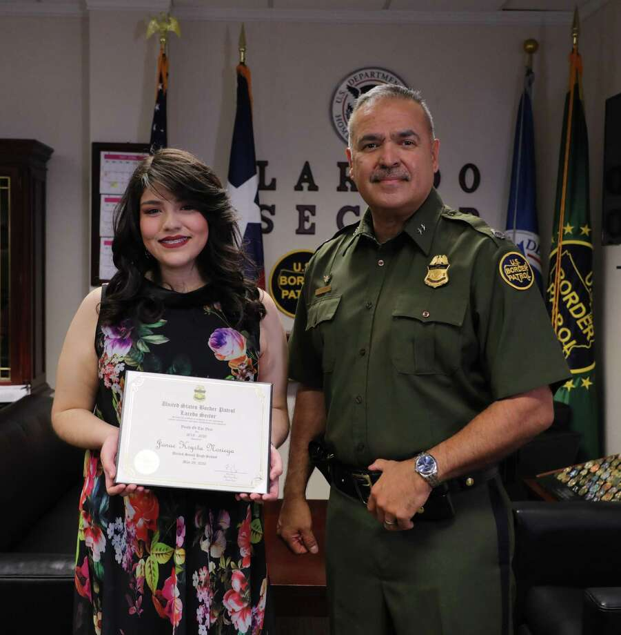 United South High School senior Janae Krysta Noriega received the 2019-20 Youth of the Year award from the Laredo Sector Border Patrol. Photo: Courtesy Of The Laredo Sector Border Patrol