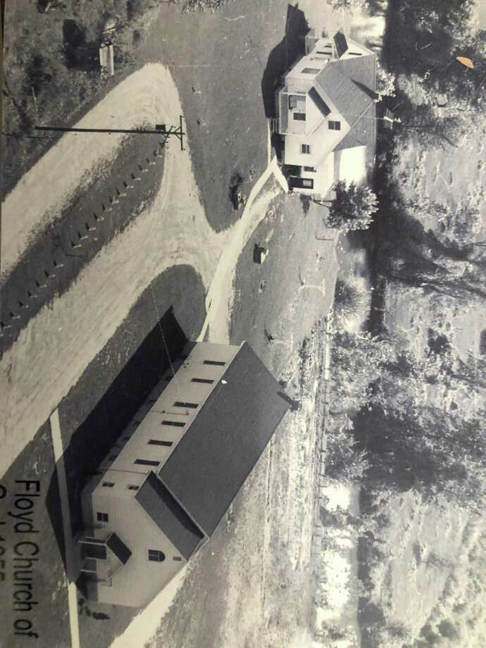 This is an aerial view of the Floyd Church of God on the corner of Eight Mile and Chippewa River Roads and the parsonage is in the upper left hand corner. Arnold Cromlish pastored here for 10 years. (Photo provided)
