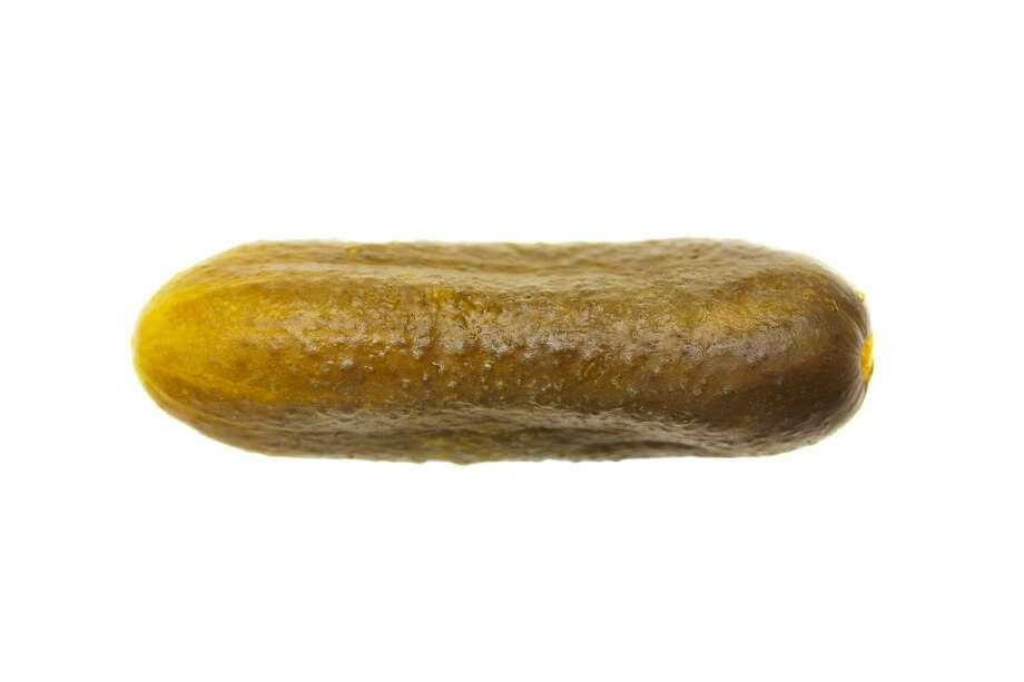 A Massachusetts man is facing an assault charge after he allegedly threw a large pickle from a moving vehicle that hit a Vermont highway worker, police said. Photo: Fotolotos/Getty Images/iStockphoto / fotolotos