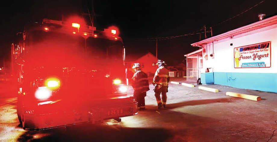 "Alton firefighters were called to Ketchum's Corner Kreem at the corner of Alby and Elm streets at 11 p.m. Tuesday for a building reported to be fire. Firefighters found no signs of fire and believe some type of ""drive-by firework"" was thrown at the building."