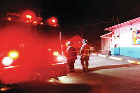 """Alton firefighters were called to Ketchum's Corner Kreem at the corner of Alby and Elm streets at 11 p.m. Tuesday for a building reported to be fire. Firefighters found no signs of fire and believe some type of """"drive-by firework"""" was thrown at the building."""