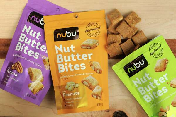 Nubu's Nut Butter Bites come in peanut, pecan and cashew flavors.