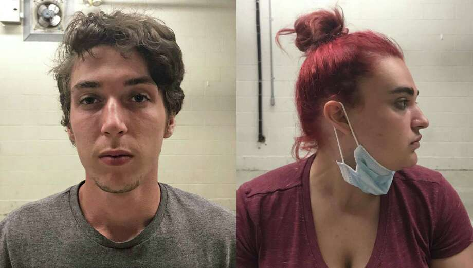 Charles Brockett, left, and Shyann Ranslow, right, were arrested May 29, 2020, for their alleged involvement in an armed robbery and assault at a Brookfield hotel in December 2019. Photo: Brookfield Police Department