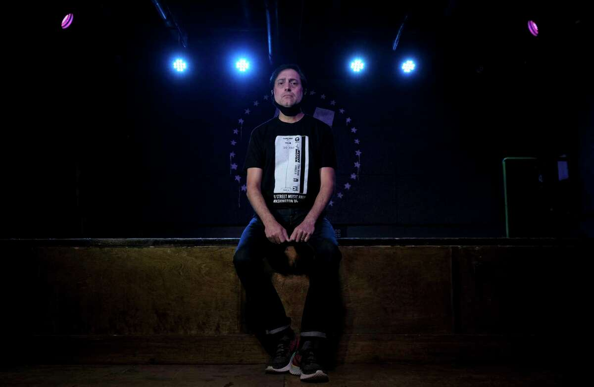 Will Eastman, owner of U Street Music Hall, at the venue in Washington on May 30. Eastman is in talks with his landlord over rent payments.