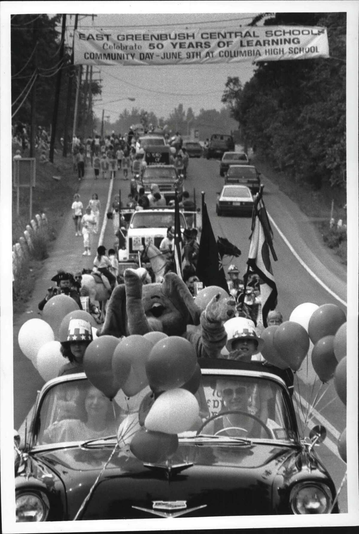 Community Day Parade on Route 4, East Greenbush, New York, Saturday morning. June 09, 1990 (John Carl D'Annibale/Times Union Archive)