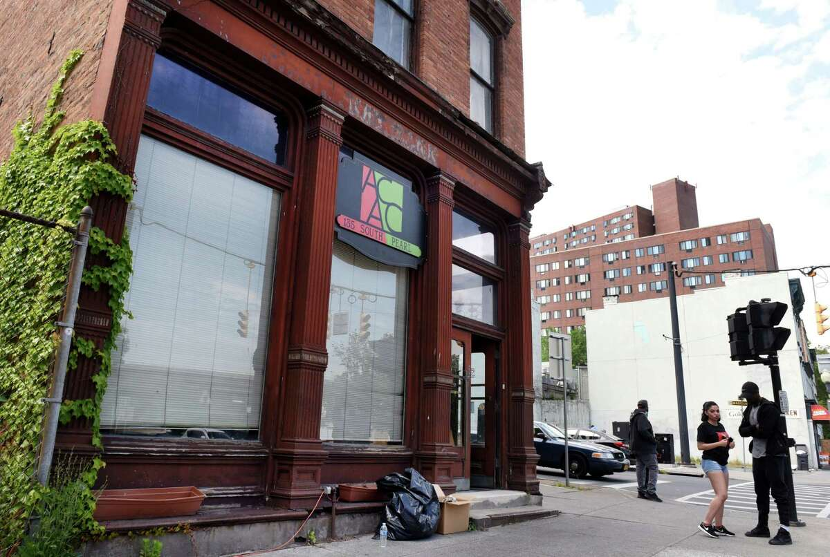 Exterior of the African American Cultural Center on Wednesday, June 3, 2020, on South Pearl Street in Albany N.Y. The center was allegedly broken into and vandalized Tuesday night. (Will Waldron/Times Union)