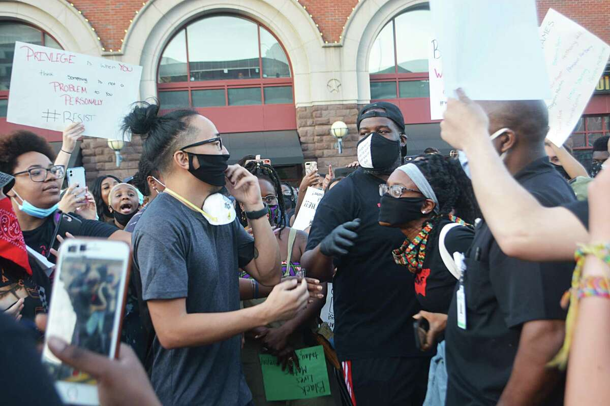 Hundreds joined a calm rally and procession down Main Street in Middletown Saturday in response to the riots in Minneapolis, Washington, D.C., New York and other major cities across the United States.