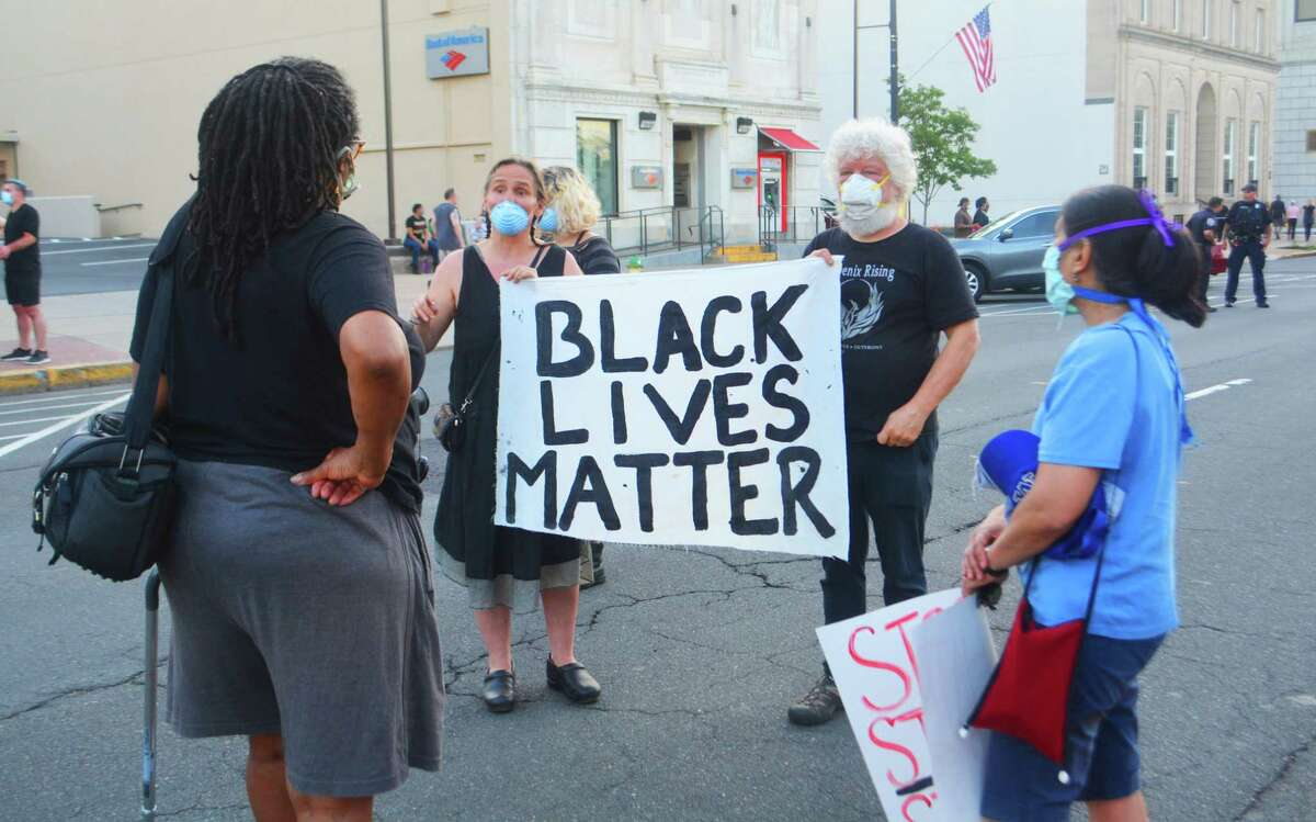 Hundreds gathered Saturday in Middletown - in peace and solidarity - to honor the life of George Floyd, who died May 25 after police placed a knee to his throat, cutting off his air supply, according to multiple media reports.