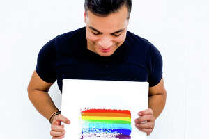 Artist Edgar Medina has created anabstract painting to celebrate Pride 2020. He has partnered withThe Montrose Center to shareproceeds from prints and merchandise.