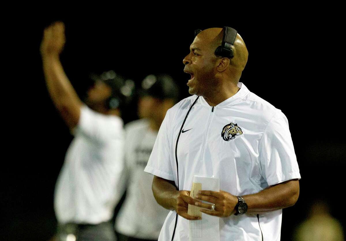 Conroe head coach Cedric Hardeman led the Tigers to a 5-5 overall record in 2019.