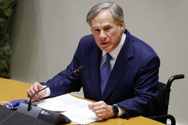 Texas Gov. Greg Abbott speaks at a news conference at city hall in Dallas, Tuesday, June 2, 2020. Abbott and local officials were on hand to discuss the response to protests in Texas over the death of George Floyd. (AP Photo/LM Otero)