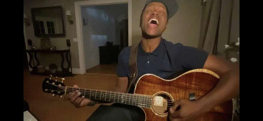 Javier Colon will perform in a benefit for Beardsley Zoo and Hall Neighborhood House, both of Bridgeport, June 18. The two-hour concert will be on Facebook Live. Colon is seen here performing in his Quarantine Concert Series. Photo: Contributed Photo