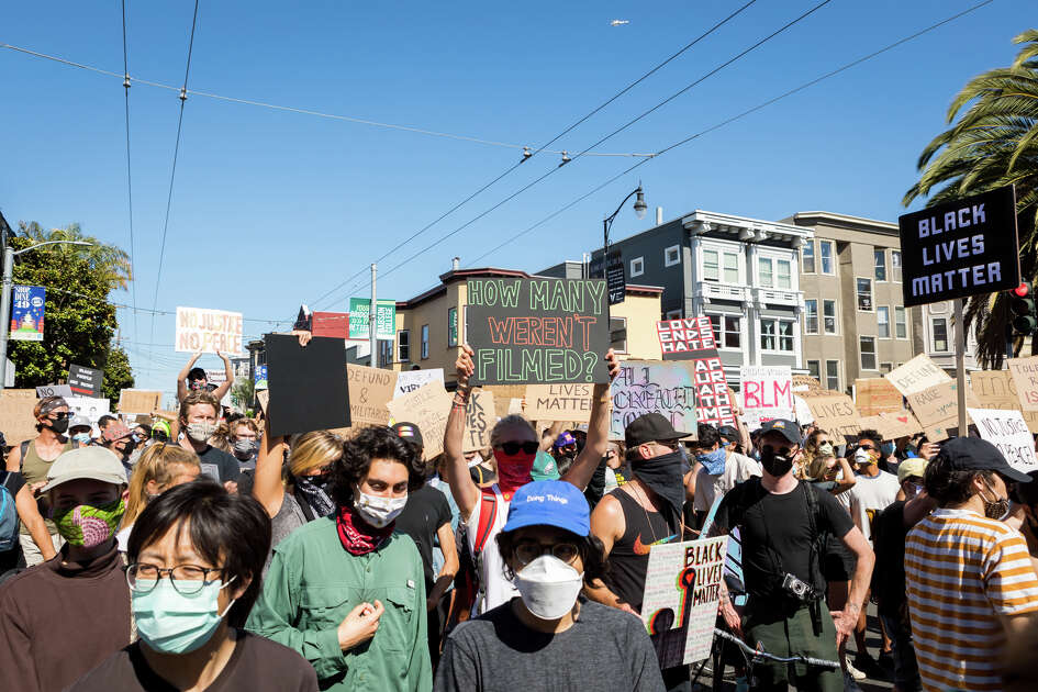 Thousands marched through the Mission on June 3, 2020, in protest of police brutality.