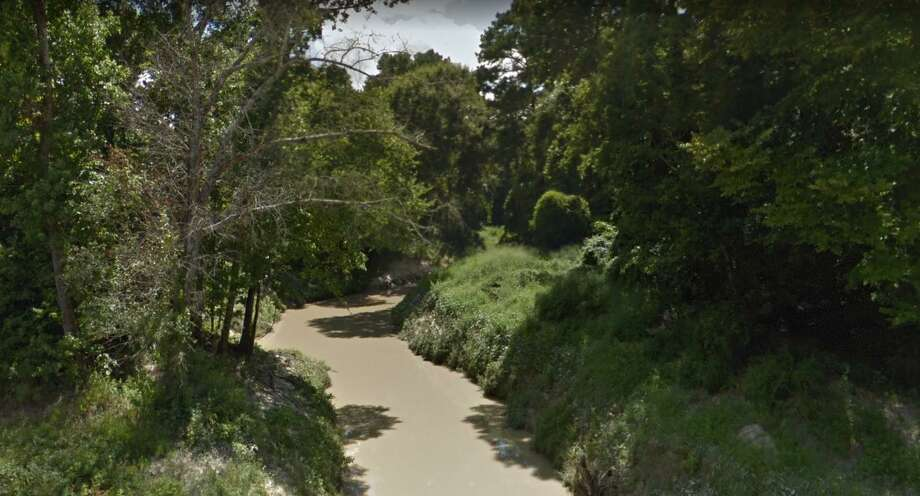 Cypress Creek passes under Huffmeister Road in Cypress. Photo: Google Maps