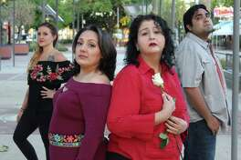 "Performers in Pasadena Little Theatre's ""Our Lady of Tortilla"" include Amanda Rawlings of Pasadena, left, Adriana Rodriguez of La Porte), Claire Orellana of Pasadena, and Joan Alvarenga of Houston."