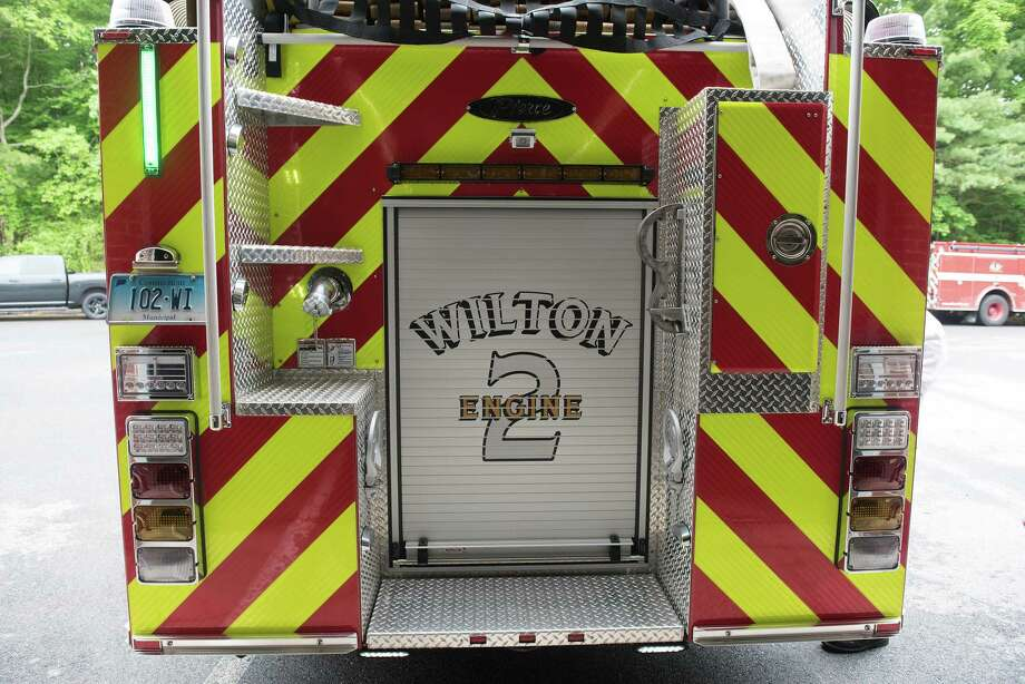 The Wilton Fire Department's new Engine 2. May 29, 2020 Photo: Bryan Haeffele / Hearst Connecticut Media / BryanHaeffele