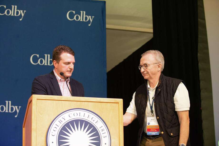 John B. Devine of Ridgefield Awarded Distinguished Service Award from Colby College in 2018. Photo: Michele Stapleton / Colby College / Michele Stapleton