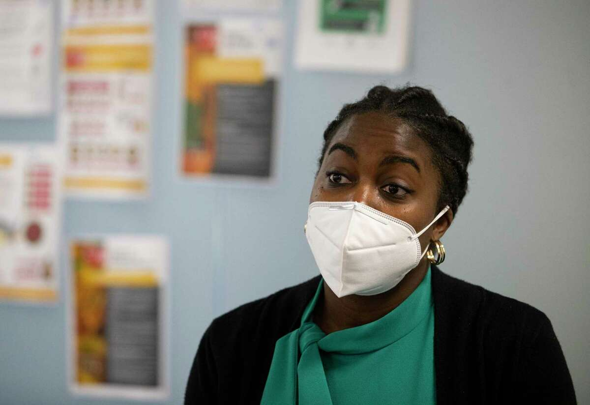 Harris County Public Health Department Contact Tracing Team Lead Jochebed Maduagwu, 28, shares her experience as one of the first trained contact tracers to fight coronavirus outbreak in the county Wednesday, May 13, 2020, in Houston. The HCPHD currently has about 50 contact tracers and the agency is aiming to have 200 by the end of the week, and have 300 contact tracers next week.