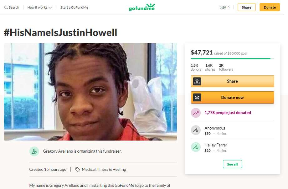 Justin Howell, the 20-year-old who was shot by the Austin Police Department during protests against police brutality on Sunday, is being identified as a San Antonio high school graduate. Photo: GoFundMe Screenshot
