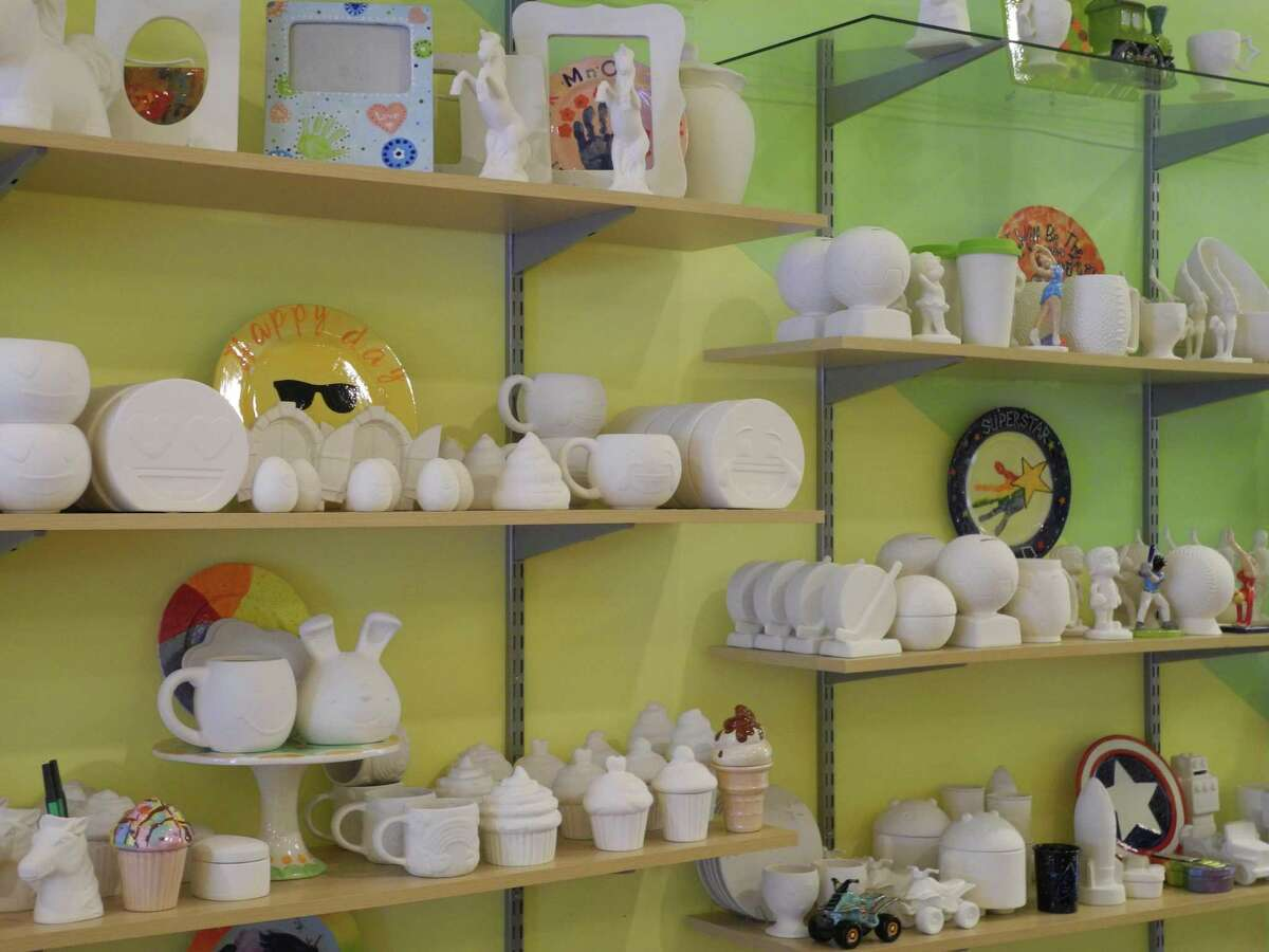 All sorts of creative options await customers at Happy Hands Pottery in Wilton after the store reopened May 22.