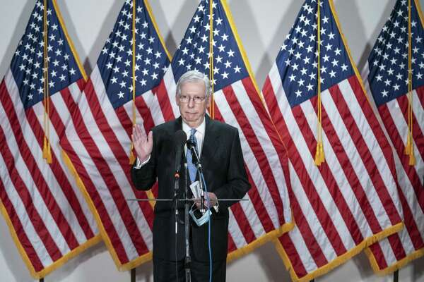Senate Majority Leader Mitch McConnell, R-Ky., during a news conference following the weekly Senate Republican caucus luncheon in Washington on June 2, 2020.