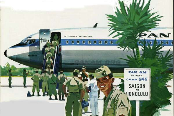 An illustration from Pan Am's 1966 annual report.