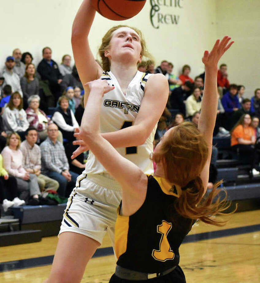 Anna McKee didn't take long to begin her barrage from beyond the perimeter. Photo: Matt Kamp|The Intelligencer